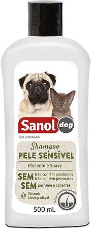 Shampoo Sanol Pele Sensível para Cães e Gatos 500ml