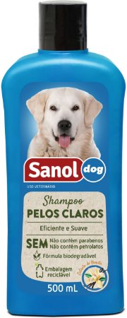 Shampoo Sanol Pêlos Claros para Cães 500ml
