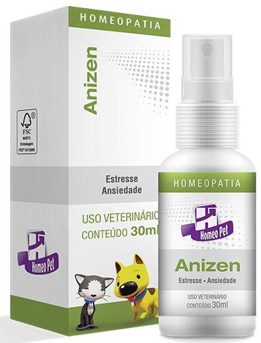 Homeopet Anizen Controle do Estresse em Cães e Gatos 30ml