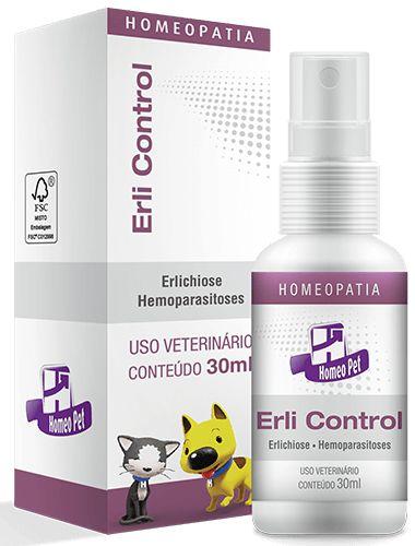 Homeopet Erli Control Tratamento Doença do Carrapato em Cães e Gatos 30ml