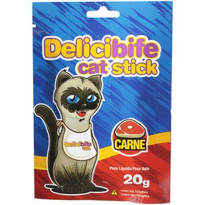 Petisco Delicibife Cat Stick Sabor Carne 20g