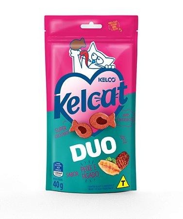 Petisco Kelcat Snack Duo Sabor Fígado e Peixe 40g