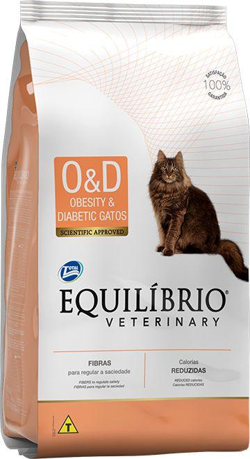 Ração Equilíbrio Veterinary Gatos Obesity & Diabetic