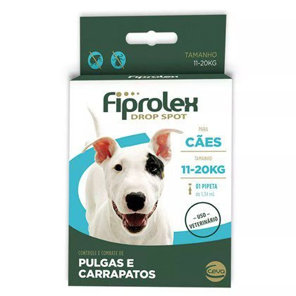 Antipulgas e Carrapatos Fiprolex para Cães de 11kg a 20kg  1Un