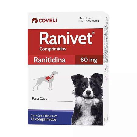 Ranivet Ranitidina 80mg 12 Comprimidos