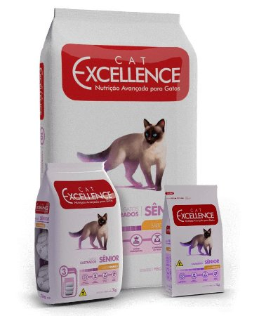 Ração Excellence Cat Adulto Senior Sabor Frango 3kg