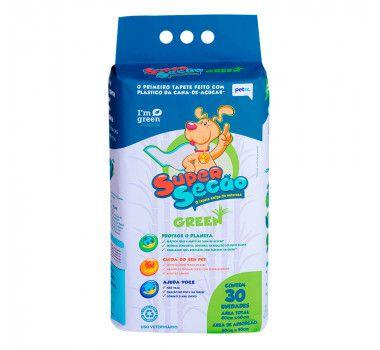 Tapete Higiênico Petix Super Seção Green com 30 unidades