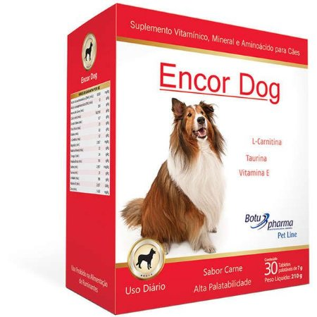 Nutradog Encor Dog 30 Tabletes 210g