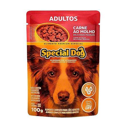 Ração Úmida Special Dog Sachê para Cães Adultos Sabor Carne 100g