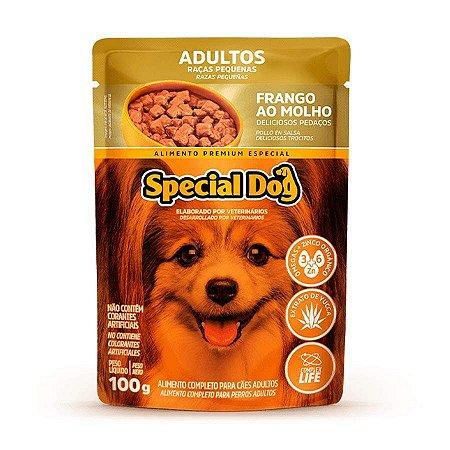 Ração Úmida Special Dog Sachê para Cães Adultos Raças Pequenas Sabor Frango 100g