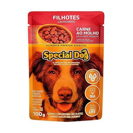 Ração Úmida Special Dog Sachê para Cães Filhotes Sabor Carne 100g