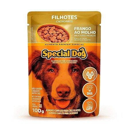 Ração Úmida Special Dog Sachê para Cães Filhotes Sabor Frango 100g