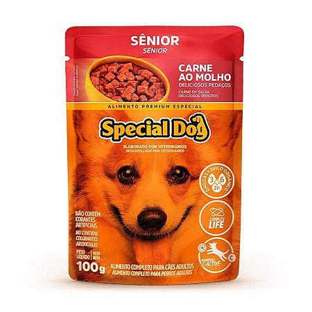 Ração Úmida Special Dog Sachê para Cães Sênior Sabor Carne 100g