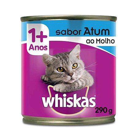 Whiskas Lata Gatos Adultos Atum ao Molho 290g