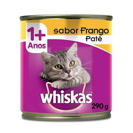 Whiskas Lata Gatos Adultos Frango Patê 290g