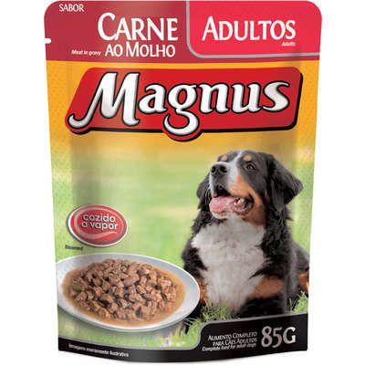 Ração Úmida Magnus Premium Sachê Carne ao Molho para Cães Adultos 85g