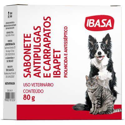 Sabonete Ibasa Antipulgas Ibapet para Cães e Gatos 80g