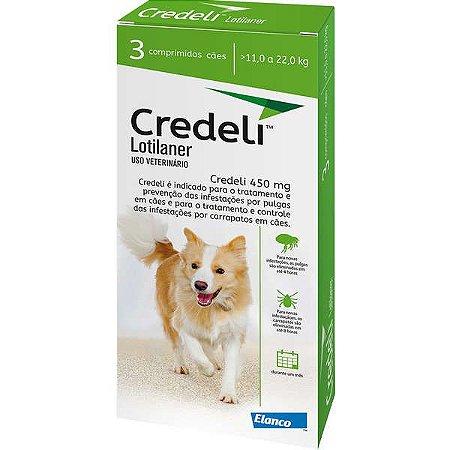 Antipulgas e Carrapatos Elanco Credeli para Cães de 11 a 22 Kg 3 Comprimidos