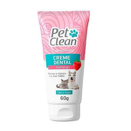 Pet Clean Creme Dental Morango 60g