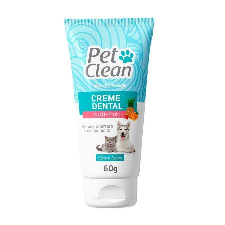 Pet Clean Creme Dental Tutti-Frutti 60g