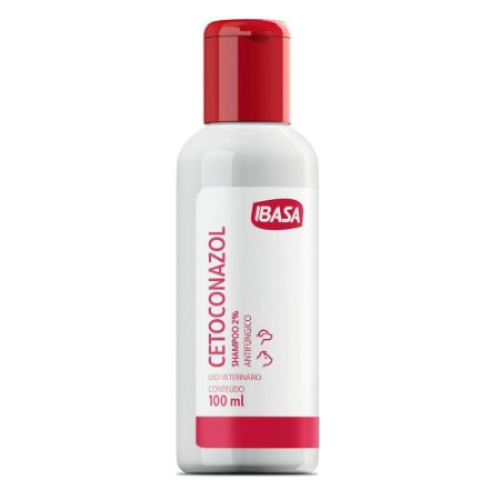 Shampoo Antifúngico Ibasa Cetoconazol 2% 100ml  Para Cães e Gatos