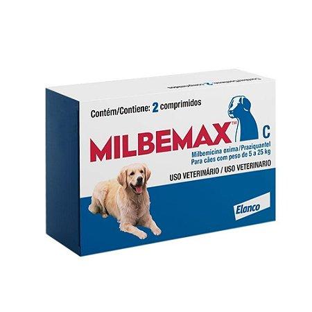 Vermífugo Milbemax C Cães 5 a 25kg