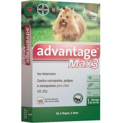 Advantage Max3 1,0ml Até 4kg Bayer