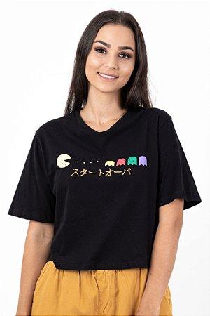 T-shirt Semi Cropped Pac-Man