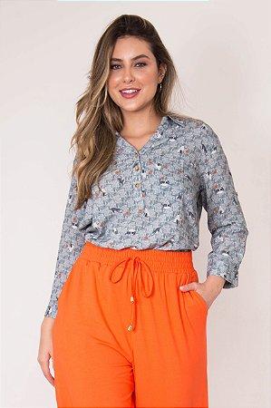 Camisa Gatinhos Lã Manga ¾