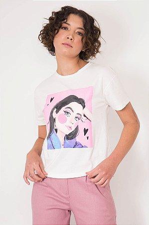 T-shirt Mulher Corações