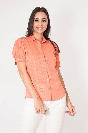 Camisa Manga Curta Pompom
