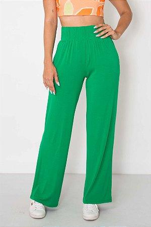 Calça Pantalona Malha Cós Elástico