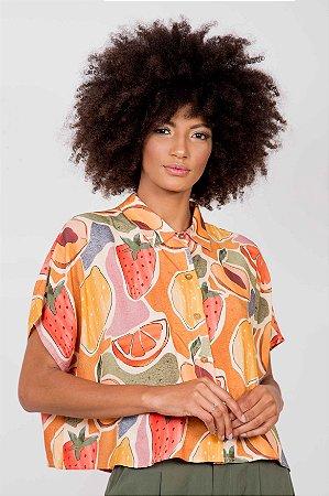 Camisa Manga Curta Frutas