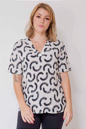 Camisa Pinceladas Manga Curta