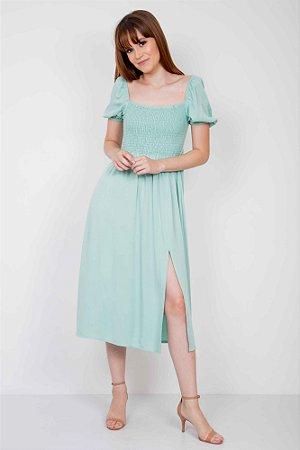 Vestido Midi Lastex Color
