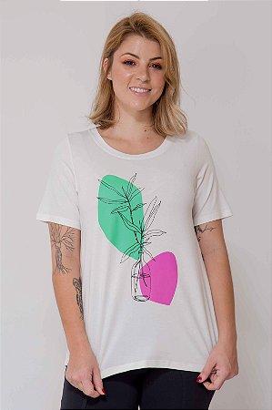 T-shirt Vaso Abstrato