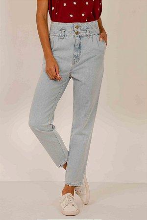 Calça Mom Jeans Dois Botões