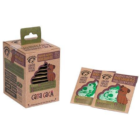Kit Higiênico de Bolso Com 15 Envelopes de 2 Saquinhos Cata Caca e 1 Lenço Umedecido