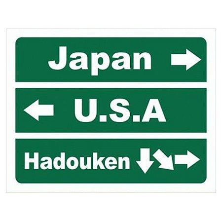 Placa Decorativa Direções Hadouken