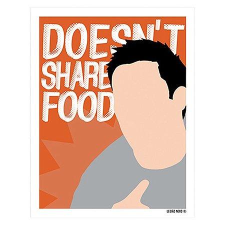 Placa Decorativa Joey Doesn't Share Food