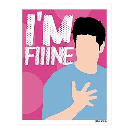 Placa Decorativa I'm Fine