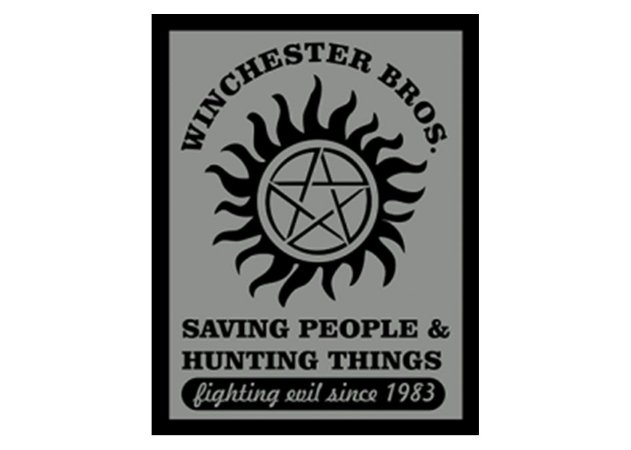 Placa Winchester Bros Supernatural