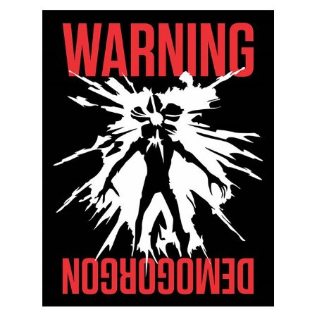 Placa Warning Demogorgon