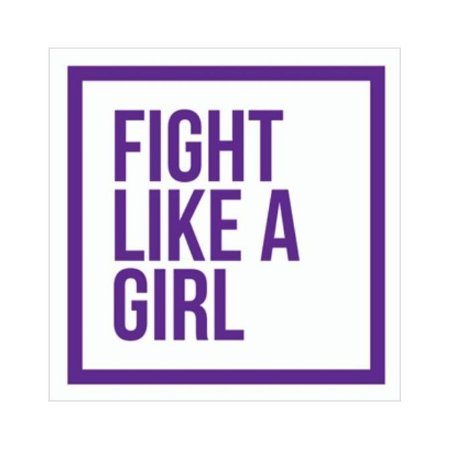 Placa Fight Like a Girl