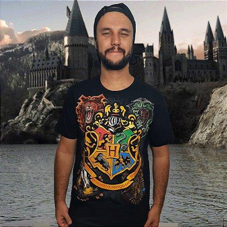 Camiseta Brasões de Hogwarts