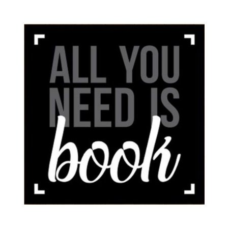 Placa All You Need is Book