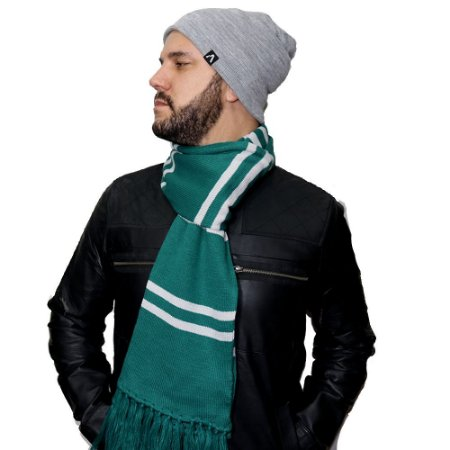 Cachecol Sonserina - Verde e Prata