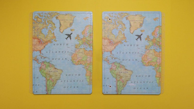 Capa Caderno Inteligente Gocase Mapa Mundi