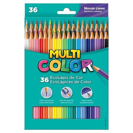 Ecolápis de Cor Multicolor Super 36 Cores