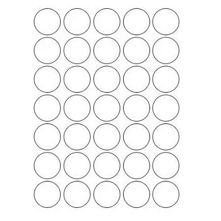 Etiqueta Multiuso Maxprint TP19 Diâmetro 19mm 6 folhas Prata